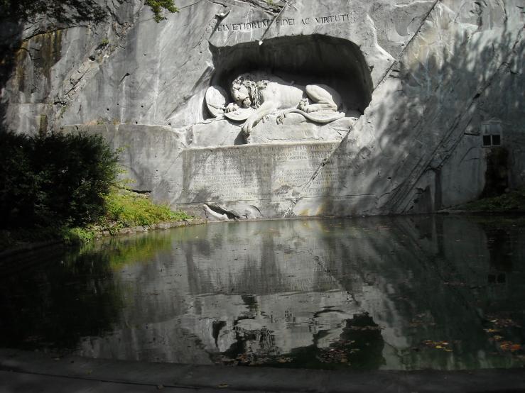 Люцернский лев (умирающий лев - памятник)