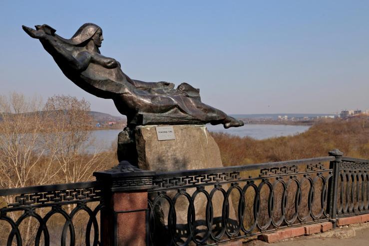 Набережная реки Томь
