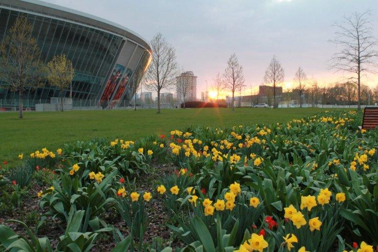 Парк возле стадиона Донбасс-Арена