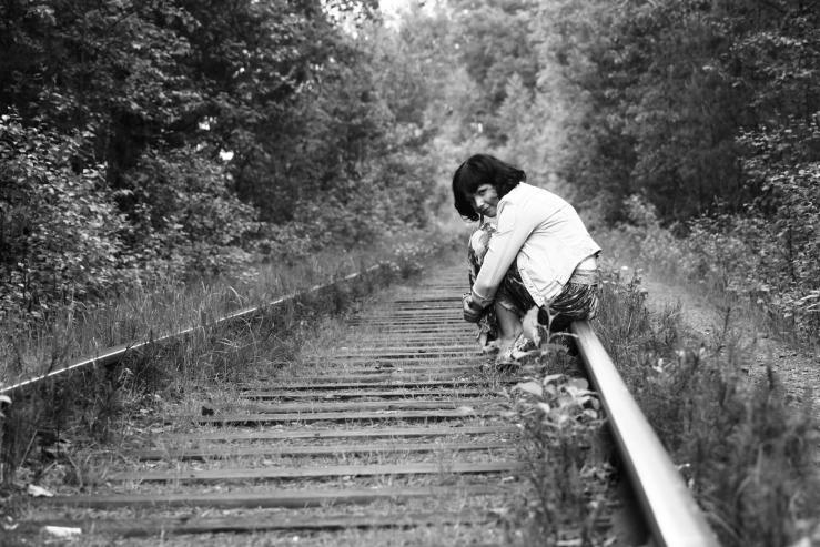 Железная дорога в лесополосе