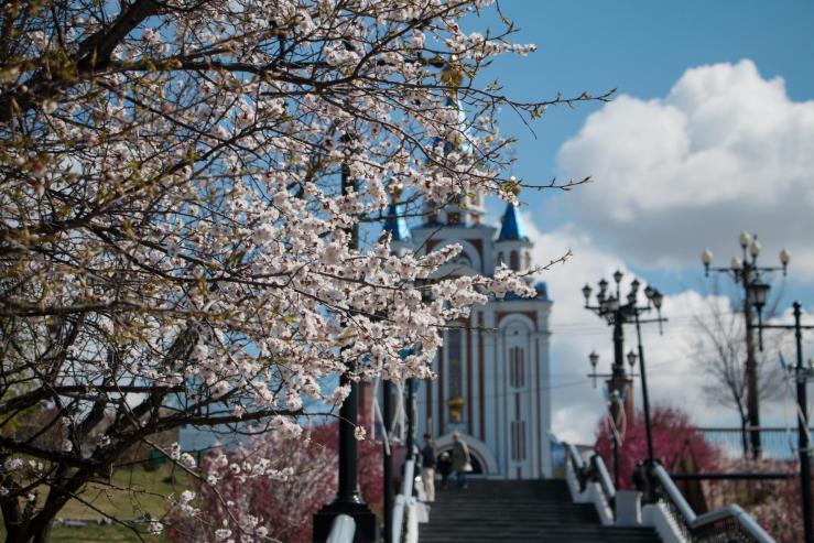 Лесница от Комсомольской площади к набережной Невельского