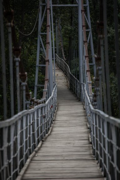 Подвесной мост на реке Белая
